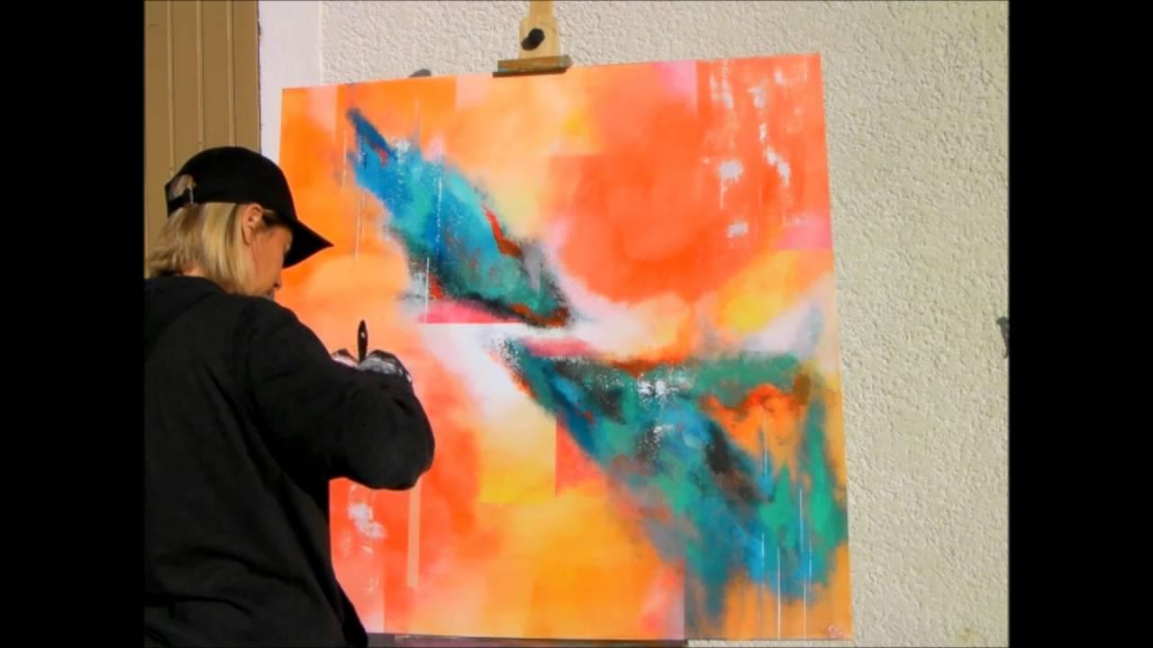 Populaire Cours de peinture facile abstraite acrylique video HD YouTube  MG65