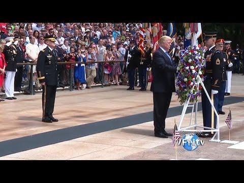 President Trump's Honoring Speech of our Nation's Fallen Heroes on Memorial Day  II VFNtv II