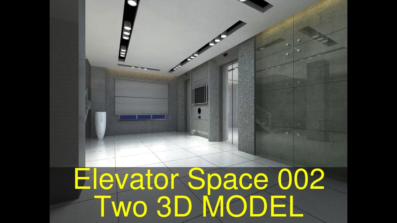 3D Model of Elevator Space 002 Two Review