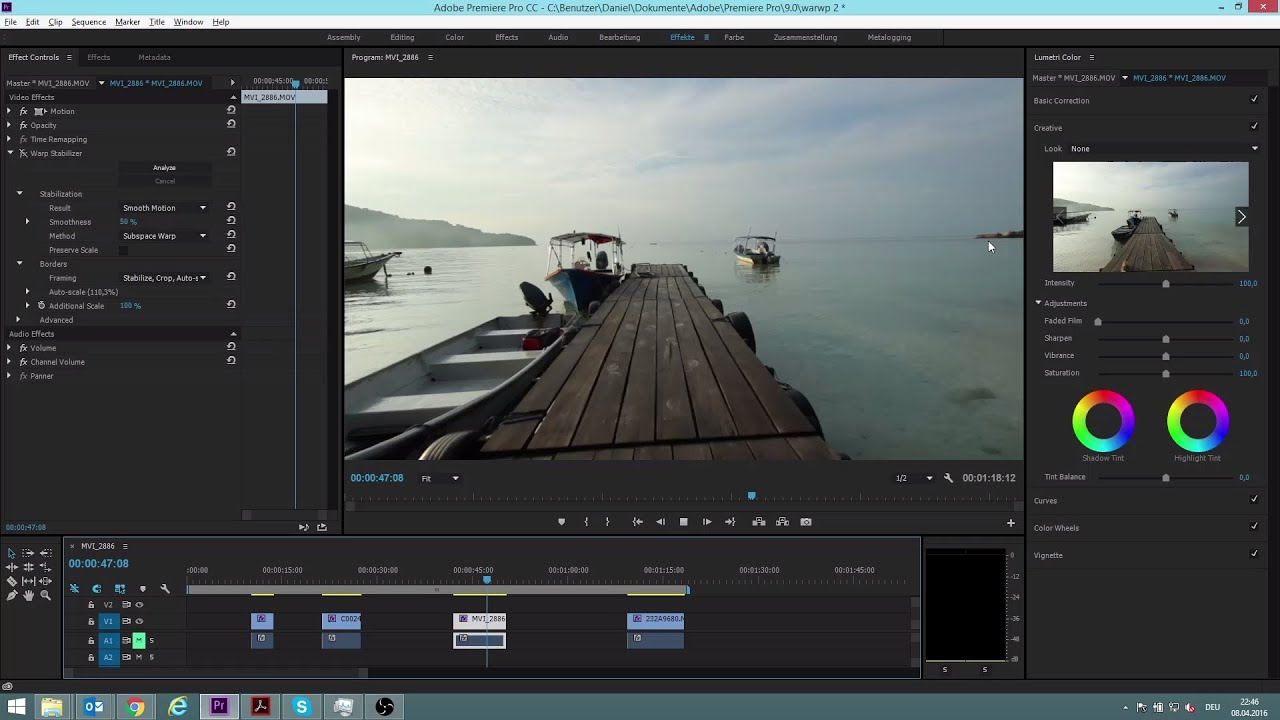 How To Use The Warp Stabilizer in Premiere Pro CC 2015 Tutorial