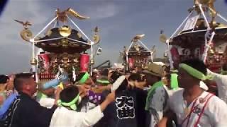 30年  茅ケ崎海岸  浜降祭   本社神輿立派なパフォマンスです。 thumbnail