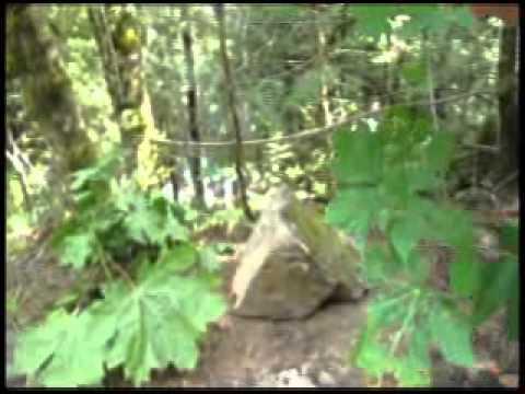 Rolling rocks down a slope
