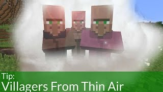 How To Make Villagers From Thin Air In Minecraft