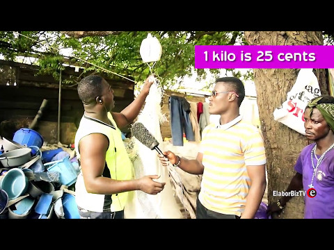 Making profit from plastic waste collection & recycling in Ghana