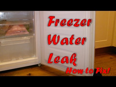 Fixing Water Leak From Freezer To Refrigerator Kitche