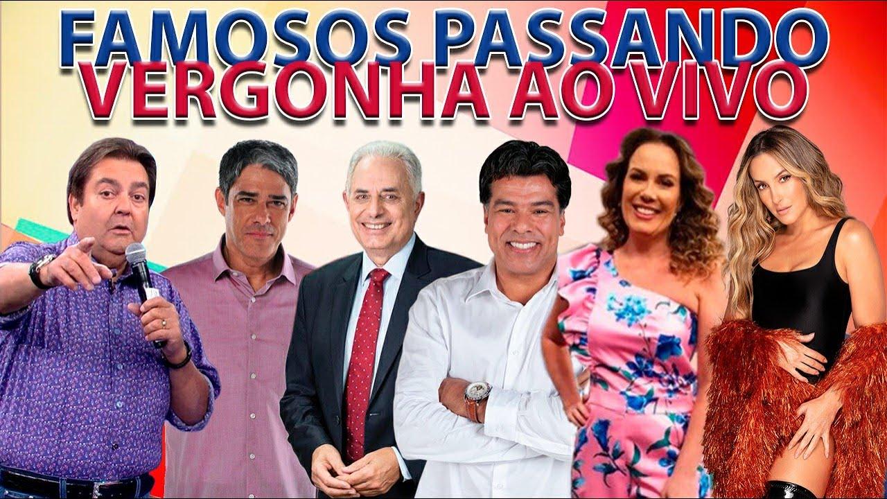 FAMOSOS PASSANDO VERGONHA AO VIVO
