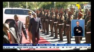 Burundians celebrate the dismissal of President Nkurunziza