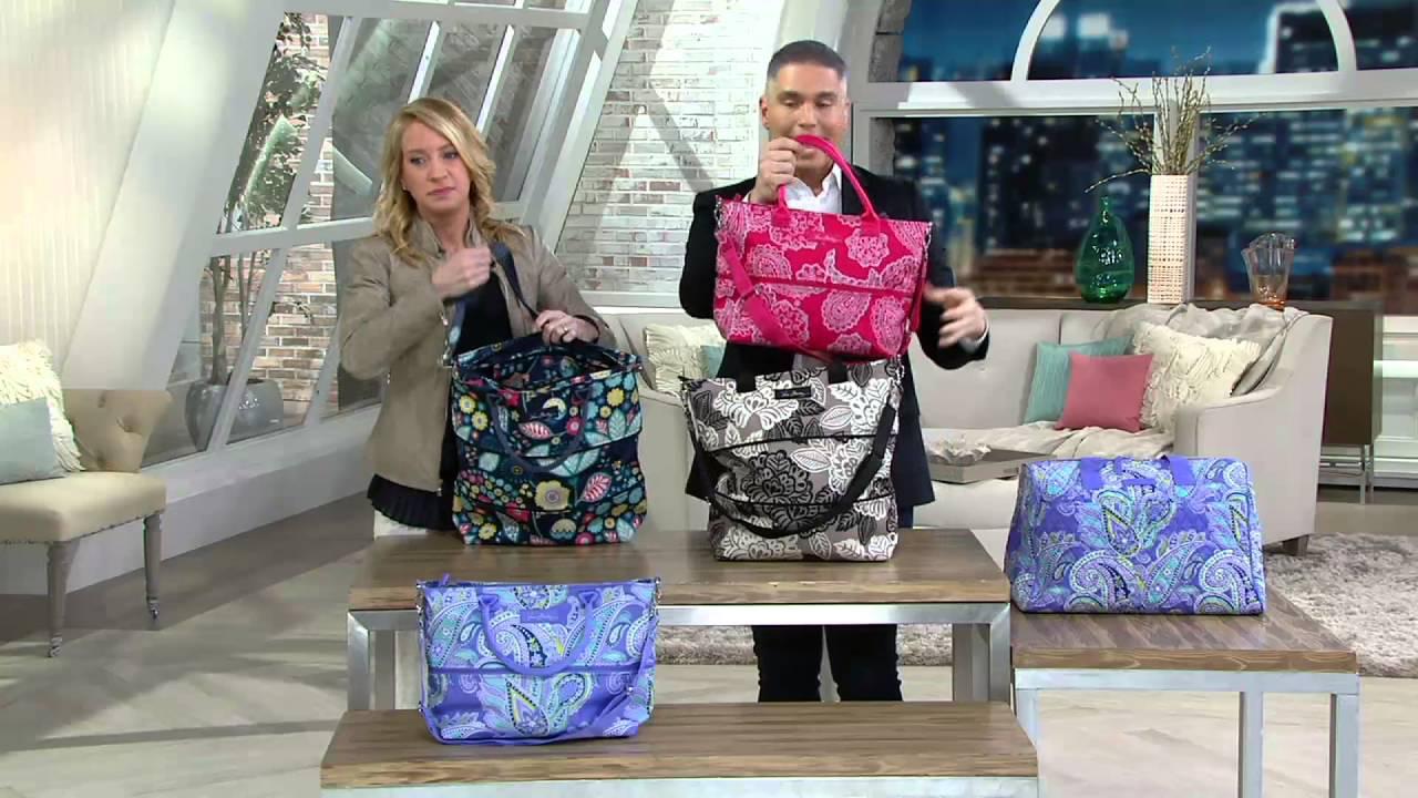 00ce7944f Vera Bradley Lighten Up Expandable Shopper on QVC - YouTube