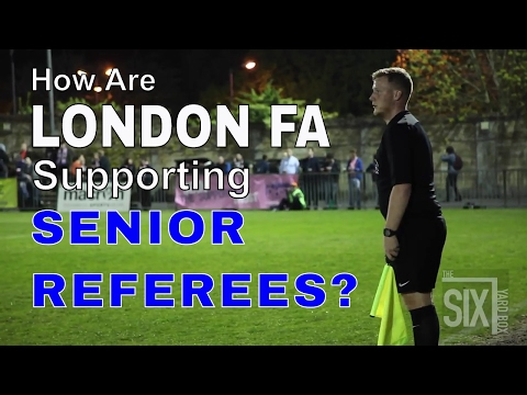 How are London FA developing their next senior level referees?