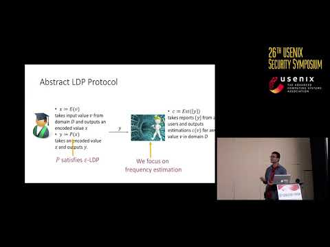 USENIX Security '17 - Locally Differentially Private Protocols For Frequency Estimation