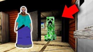 Herobrine in Granny Horror Game at 3:00 AM (Minecraft in Granny Horror Game)