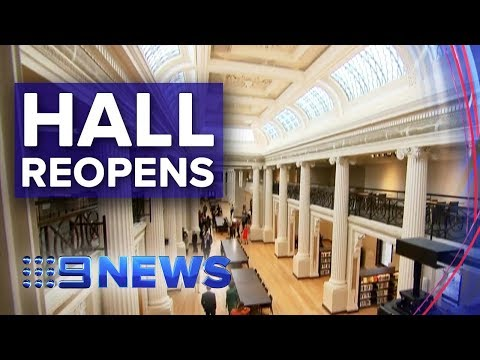 State Library Victoria Reopens $88.1m Queens Hall | Nine News Australia