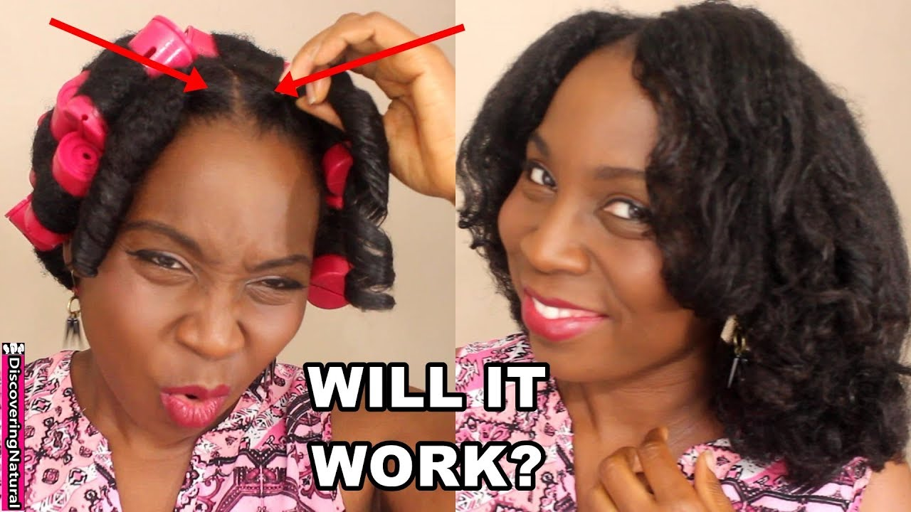 Dry Roller Set On Natural Hair With Rubber Bands Youtube