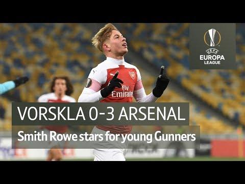 Vorskla vs Arsenal (0-3) | UEFA Europa League highlights
