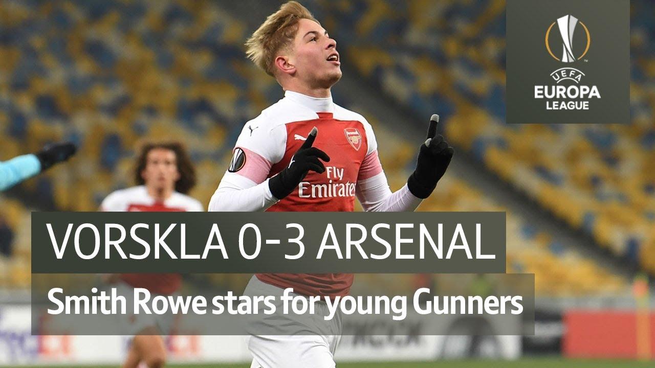 Vorskla Vs Arsenal 0 3 Uefa Europa League Highlights Youtube