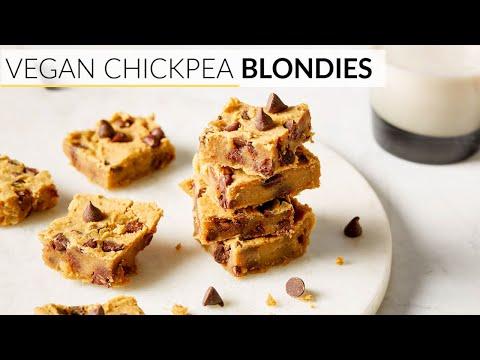 BLONDIE RECIPE | healthy, vegan chickpea blondies