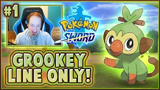 Pokemon Sword Grookey Line Only! Full LIVE Playthrough! - Part 1