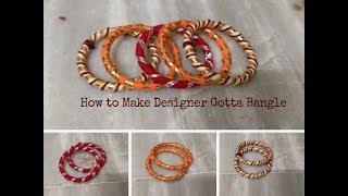 How to make Gotta Bangles Latest Gotta Bangle Design 4 tings to make Designer Bangle