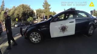 """Scott """"The Protester"""" Largent arrested by San Jose Police Department / 12.20.2016 / Chest Camera# 4"""