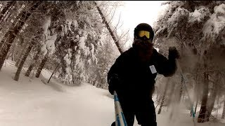 Skiing the Notch Christmas 12 - GoPro HD