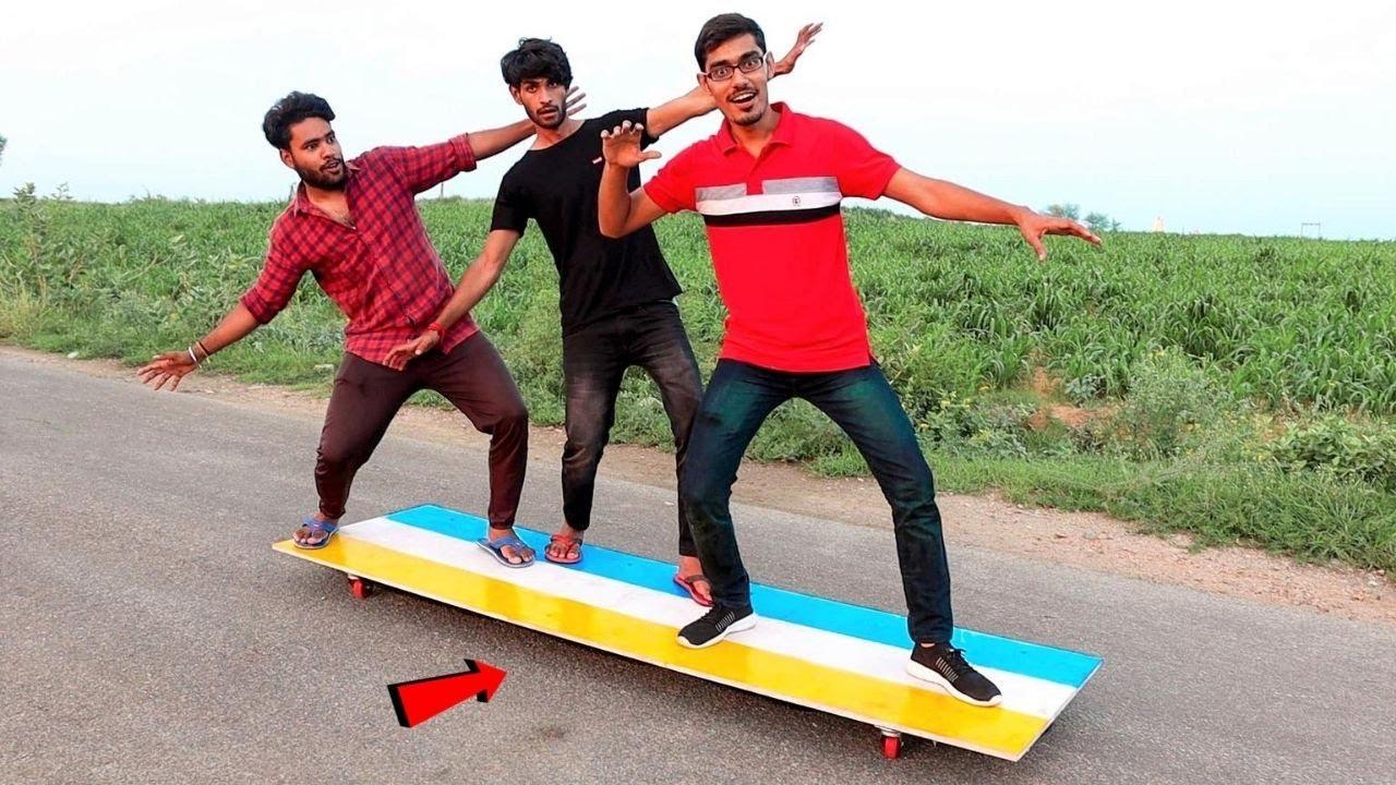 We Made Biggest Skateboard ! सबसे लम्बा स्केटबोर्ड | Testing 8 Feet Long Monster