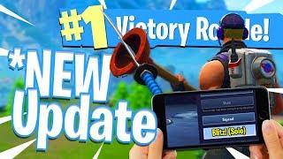 *NEW* FORTNITE MOBILE UPDATE! - Blitz Gamemode Gameplay - Victory Royale