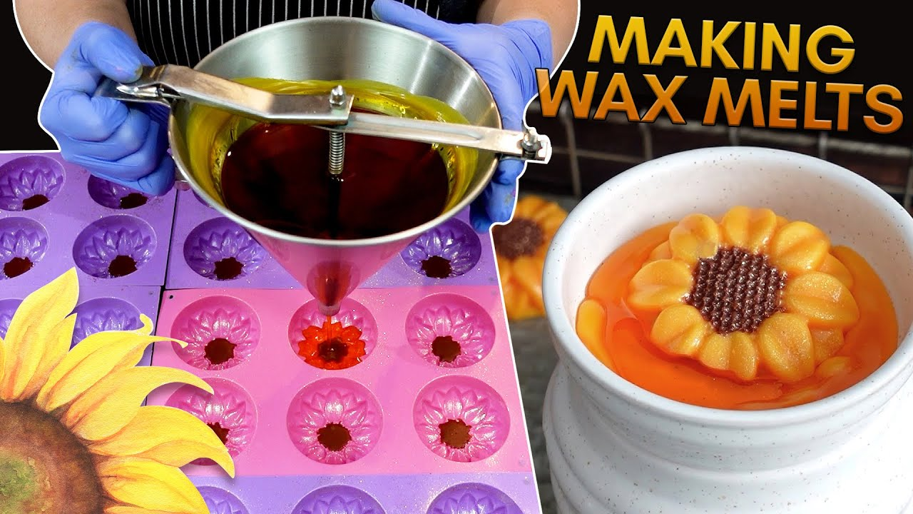 How I Make and Package Sunflower Wax Melts   MO River Soap