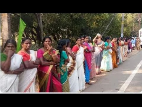 Sabarimala Row: Lakhs of women form 620 km-long 'Women's wall' in Kerala
