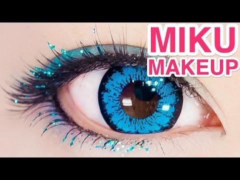 SHINY Hatsune Miku COSPLAY MAKEUP tutorial by kawaii model ...