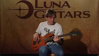 Tattoo 30 Electric Bass Guitar Mahogany by Luna Guitars
