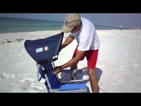 Beach Chair with Canopy - Easy Clip On For Shade
