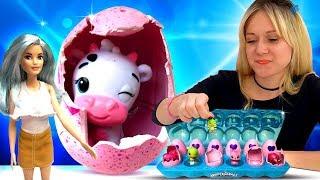 Распаковка Хетчималс - Открываем яйца с сюрпризом - Видео для девочек.