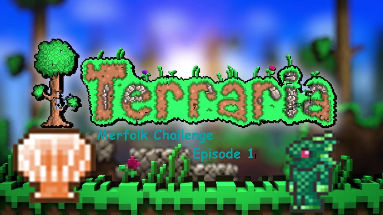 Terraria merfolk challenge ep1 fish out of water 100 for Fish finder terraria