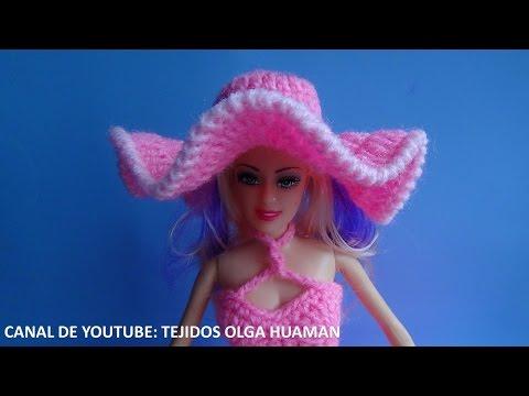 sombrero tejido a crochet para muñeca - Смотреть видео бесплатно онлайн a56199da503