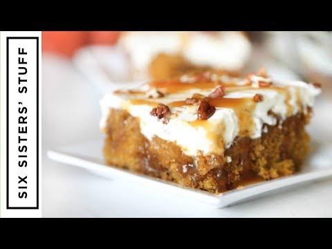 Caramel Pumpkin Poke Cake and Collab