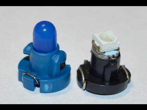 Светодиодные лампы подсветки кнопок Honda Civic 4d, распаковка, установка.