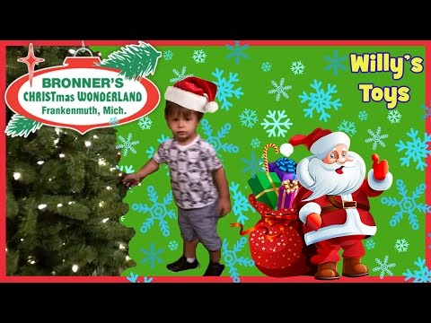 kid-visits-worlds-biggest-christmas-store- -bronners- -santa-clause-trees-lights-xmas- -willys-toys