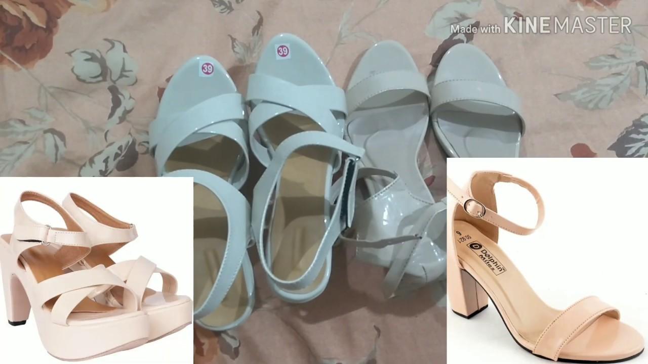 Flipkart heels haul/try on Flipkart