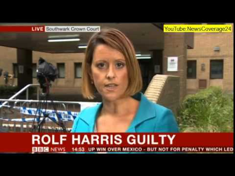 Rolf Harris Leaves Court (BBC NEWS COVERAGE)