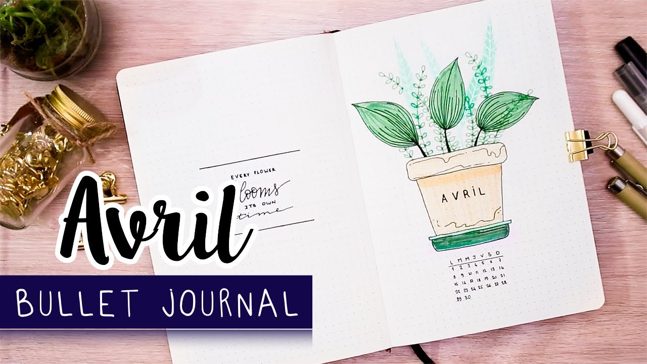 PLAN WITH ME | Bullet Journal AVRIL