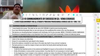 P105_TEN COMMANDMENTS TO SUCCESS IN CA & CMA COURSES