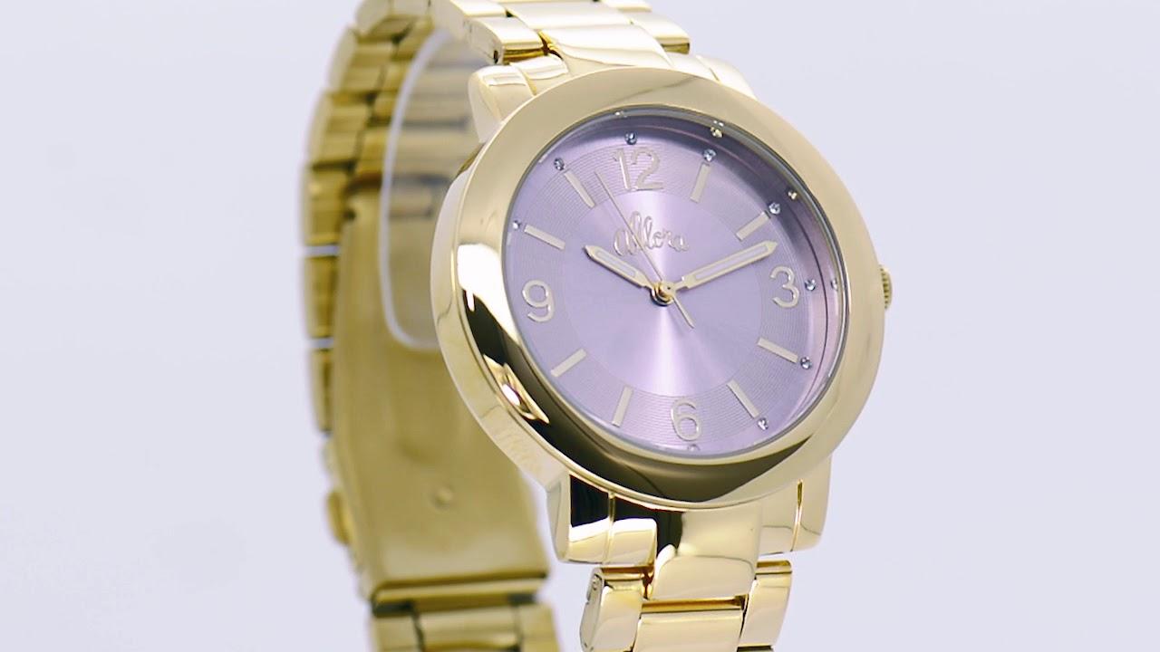 b014ec873ad1a Relógio Allora Feminino AL2035EYL 4G - Eclock - YouTube
