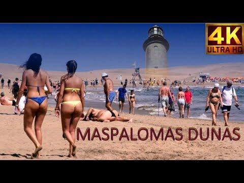 4K Maspalomas  sunbathing -  Playa del Ingles , Gran Canaria