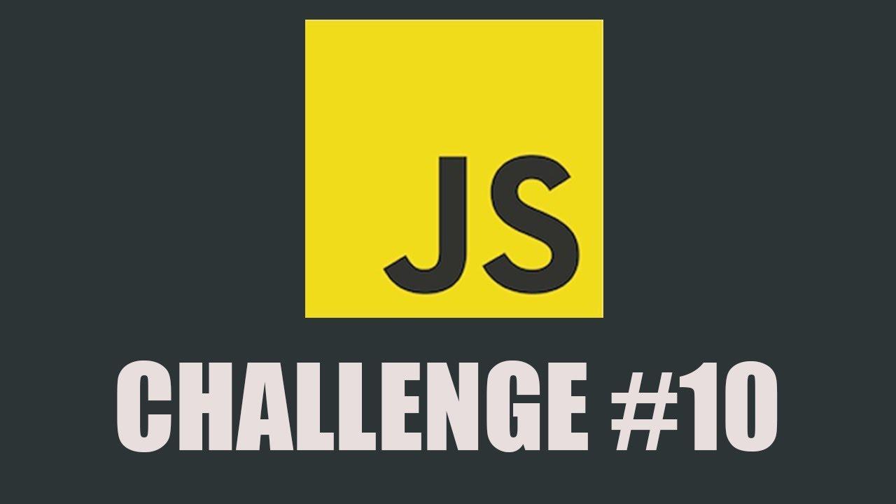 Javascript Challenge : LocalStorage API