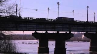 Зимняя рыбалка на Днепре в Киеве.