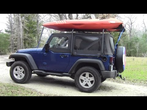 Jeep Wrangler Soft Top Cargo Rack Install - YouTube