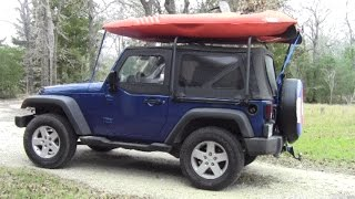 Jeep Wrangler Soft Top Cargo Rack Install