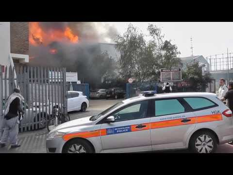 MITCHAM ( WAREHOUSE ) FIRE in BOND Rd  1st SEPTEMBER 2013