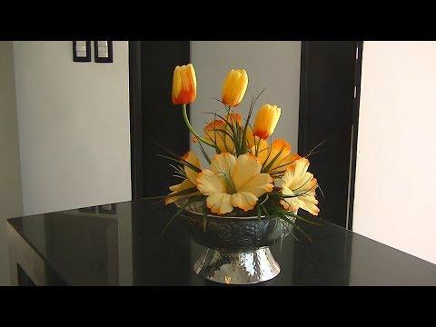 Arreglo Floral Primaveral en Color Naranja DIY