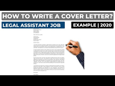 How To Write A Cover Letter For A Legal Assistant Job? (2020) | Example